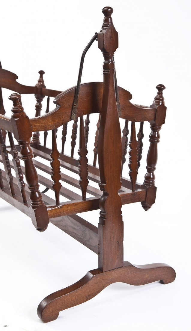 Antique Swinging Baby Cradle - 9