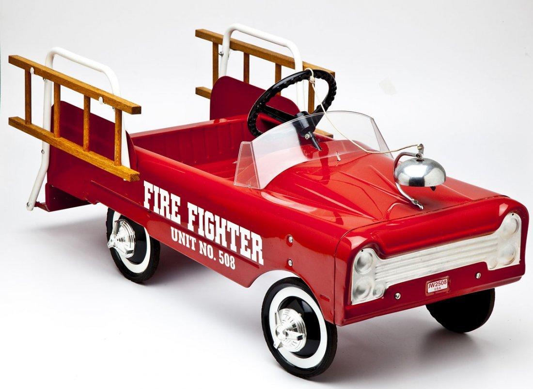 Fire Fighter Ladder Truck Pedal Car