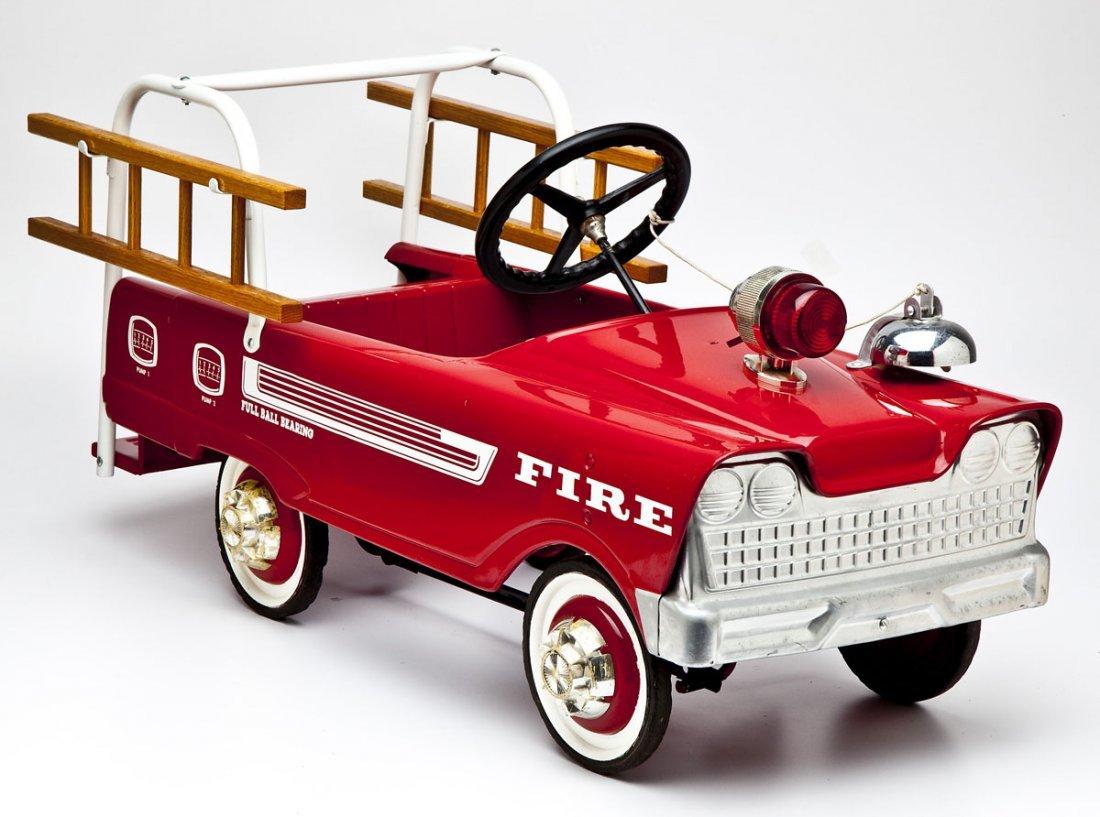 Fire Ladder Truck Pedal Car