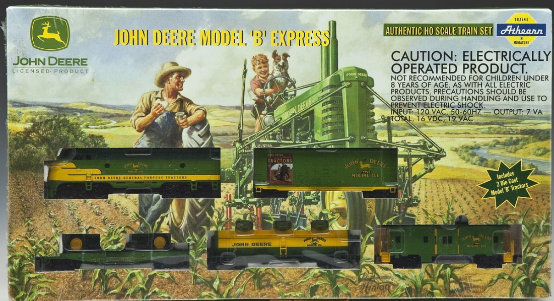 Athearn John Deere Model B Express HO Train Set