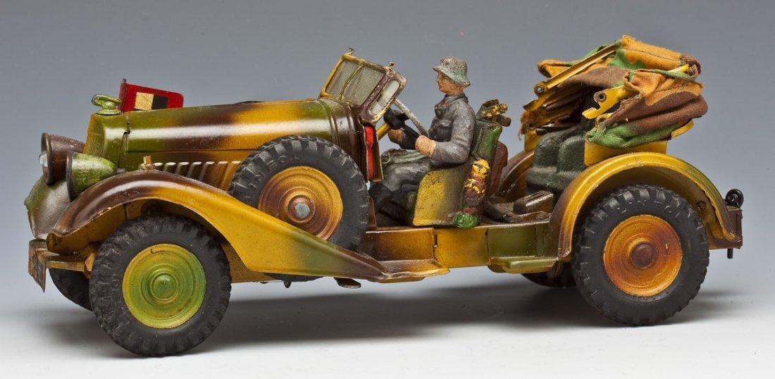 Lineol German Tinplate Staff Car (Kuebelwagen)