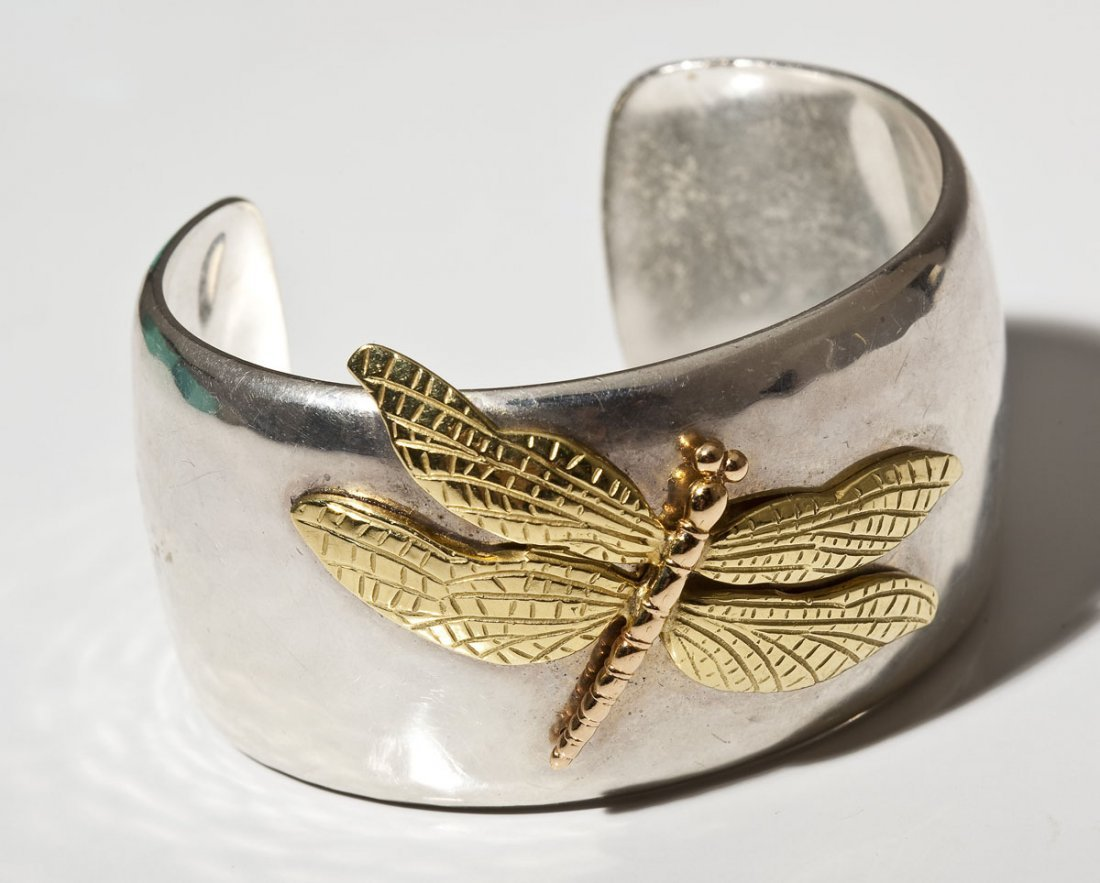 80461a4ef Tiffany Sterling & 18K Dragonfly Cuff Bracelet - Nov 08, 2014   Cordier  Auctions & Appraisals in PA