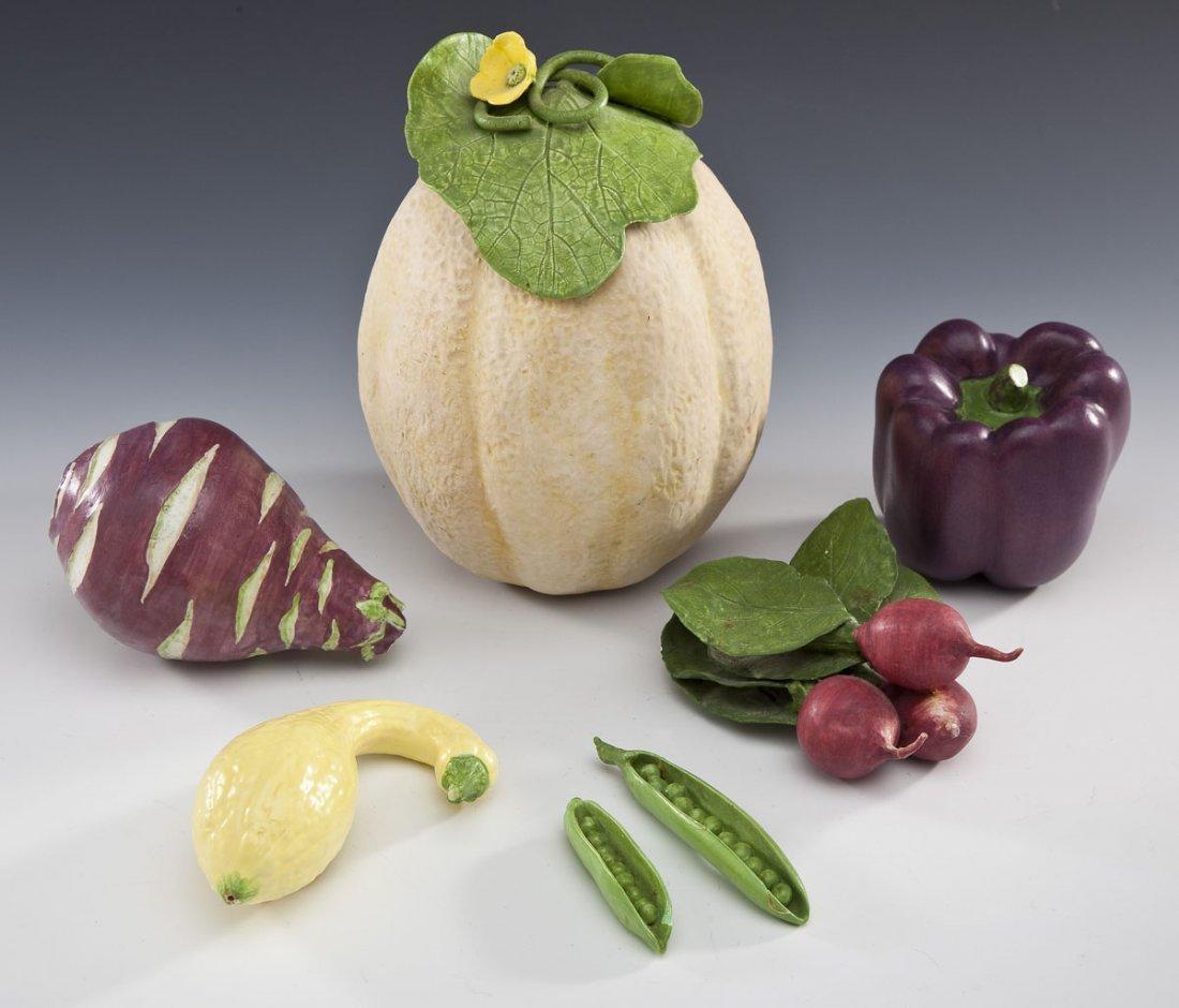6 Pcs Mary Kirk Kelly Ceramic Fruits & Vegetables