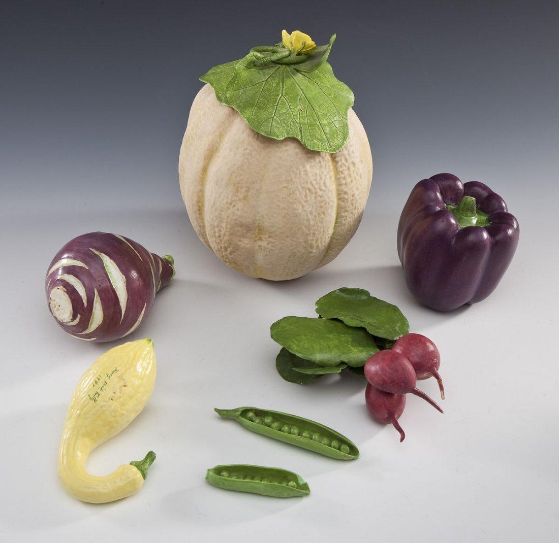 6 Pcs Mary Kirk Kelly Ceramic Fruits & Vegetables - 2