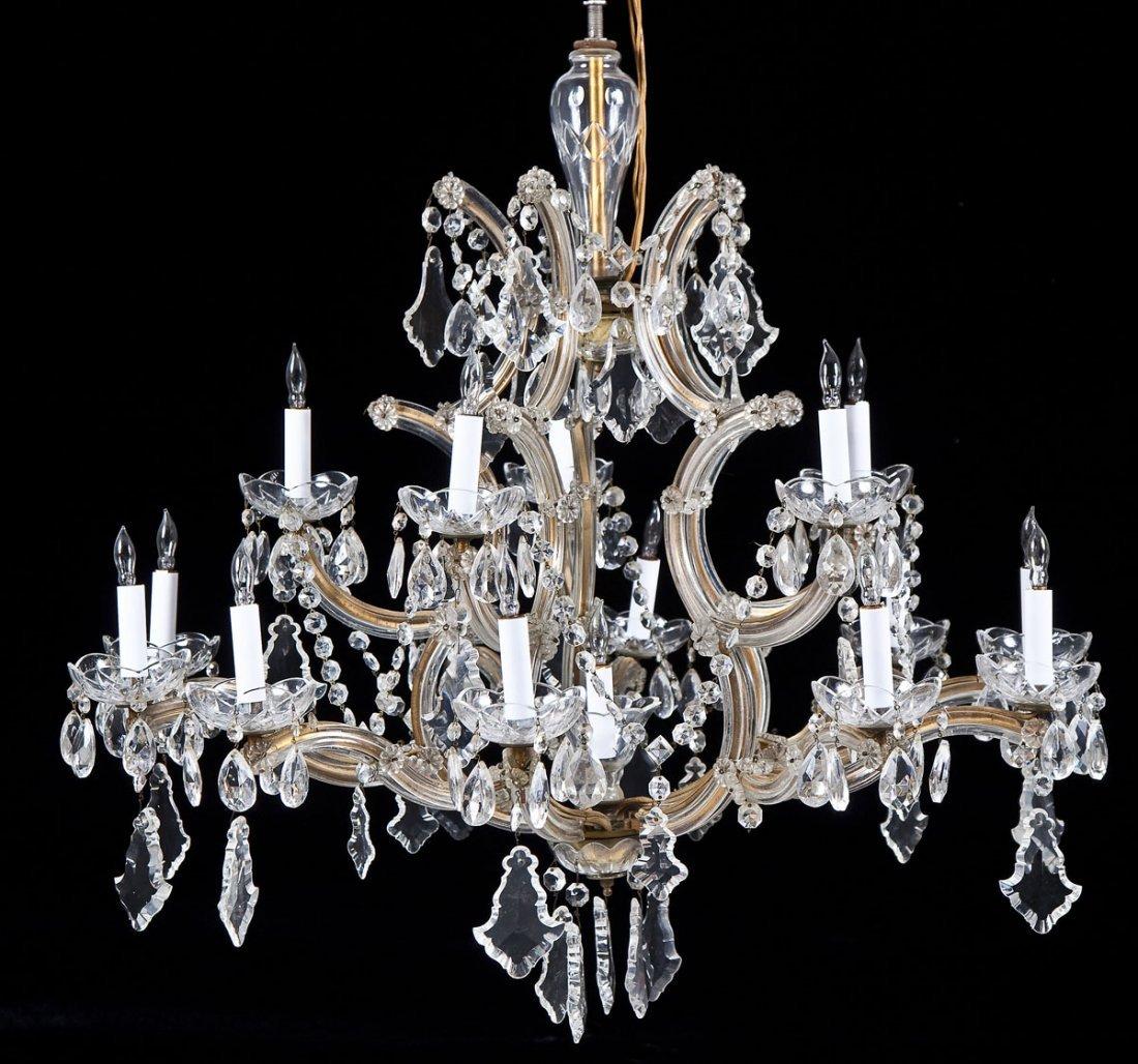 Hess's Dept Store Italian Crystal Chandelier