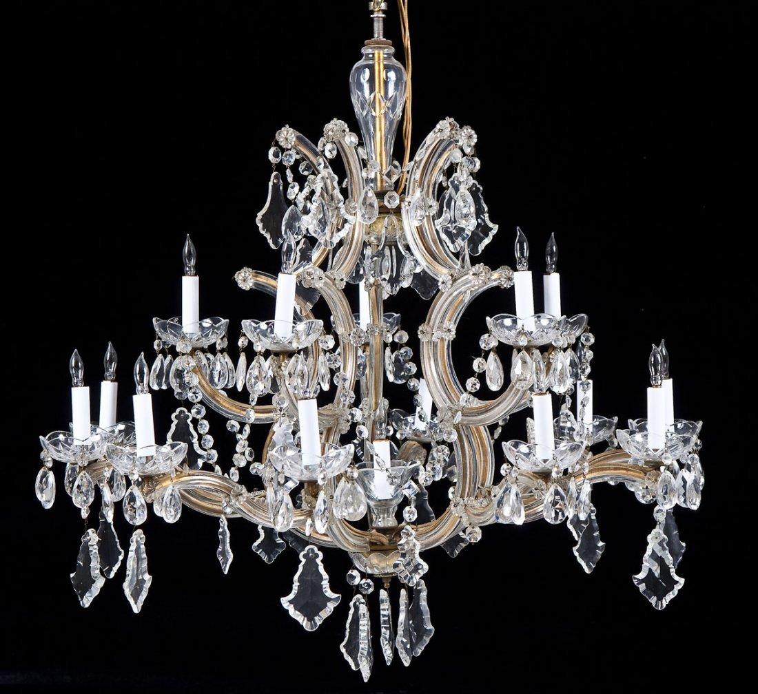 Hess's Dept Store Italian Crystal Chandelier - 2