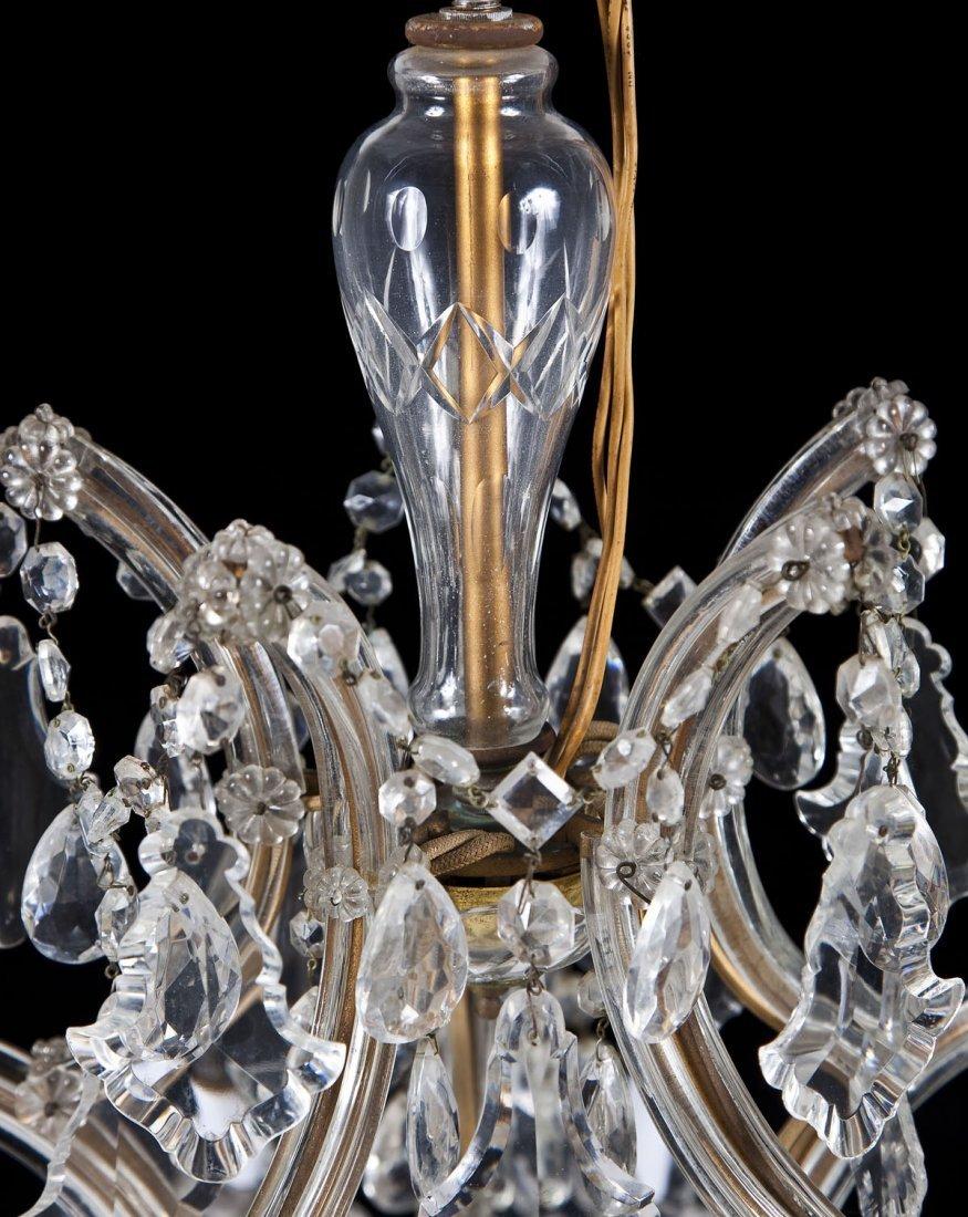 Hess's Dept Store Italian Crystal Chandelier - 5