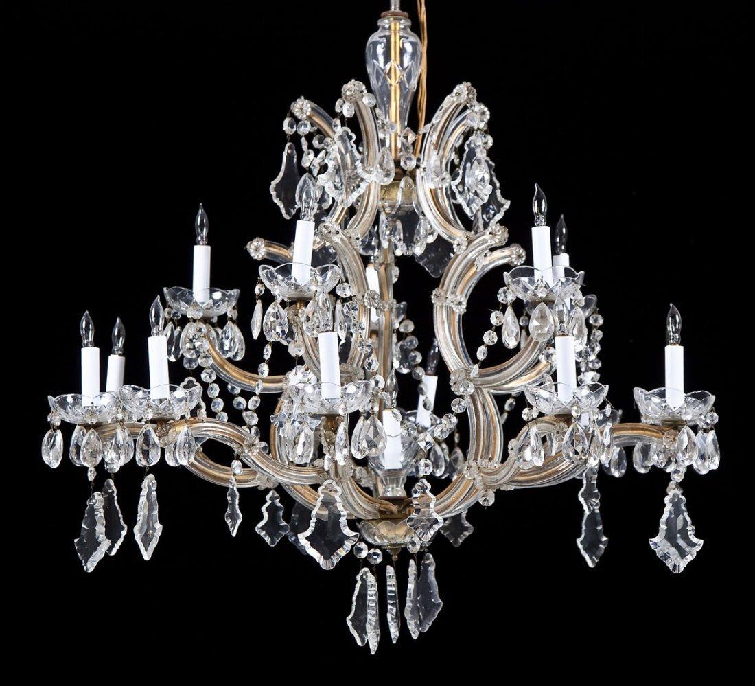 Hess's Dept Store Italian Crystal Chandelier - 6