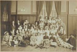 1909 Photograph of Group in Halloween Costumes