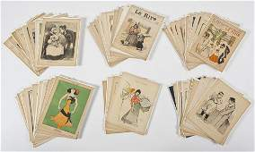 58 19th & 20th C French Cartoons from Le Rire