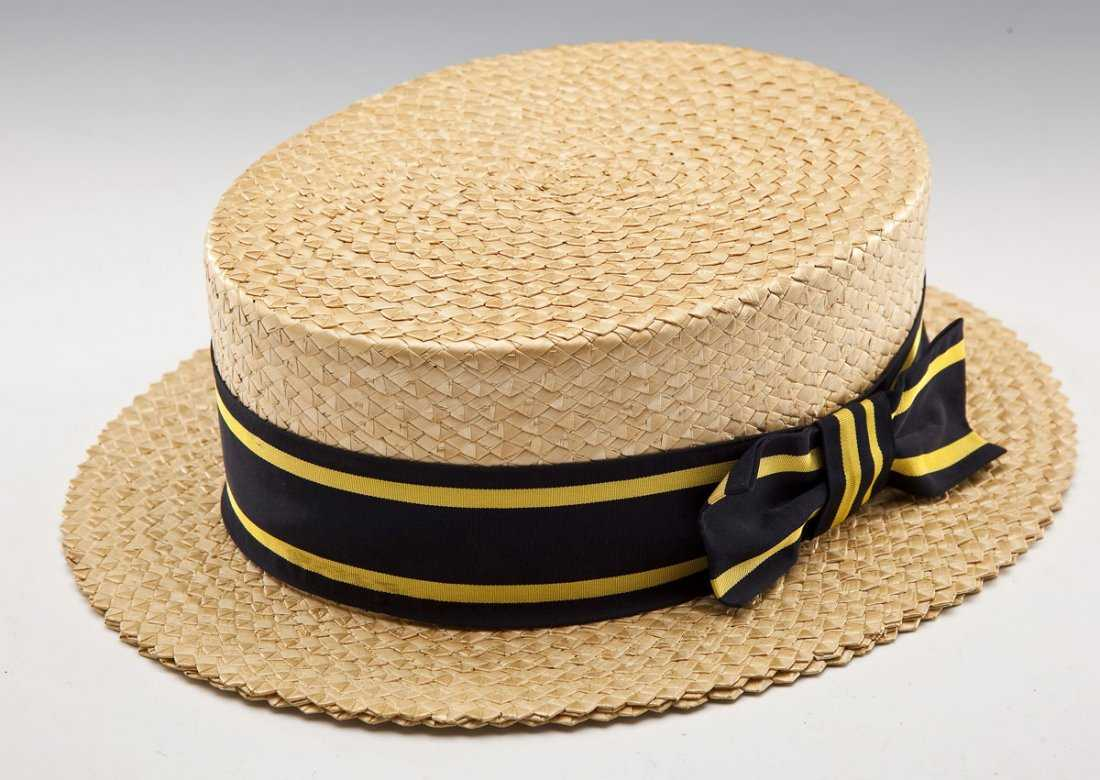 1184307d246 Brooks Brothers Man s Straw Boater Hat and Box