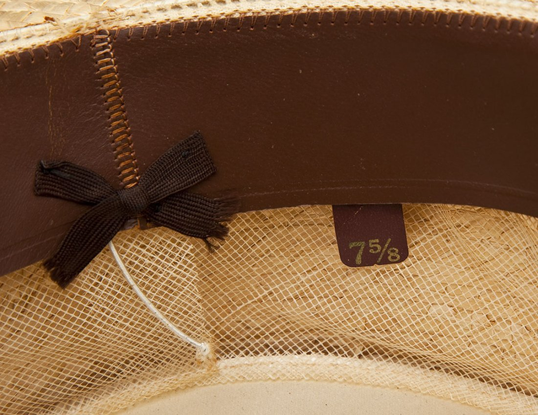 Brooks Brothers Man's Straw Boater Hat and Box - 6