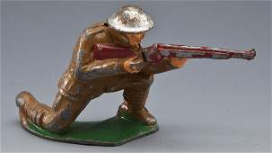 Manoil Dime Store Soldier with Folding Rifle