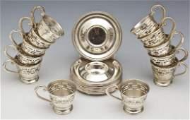 24 Pc Saart Brothers Demitasse Cup  Saucer Set