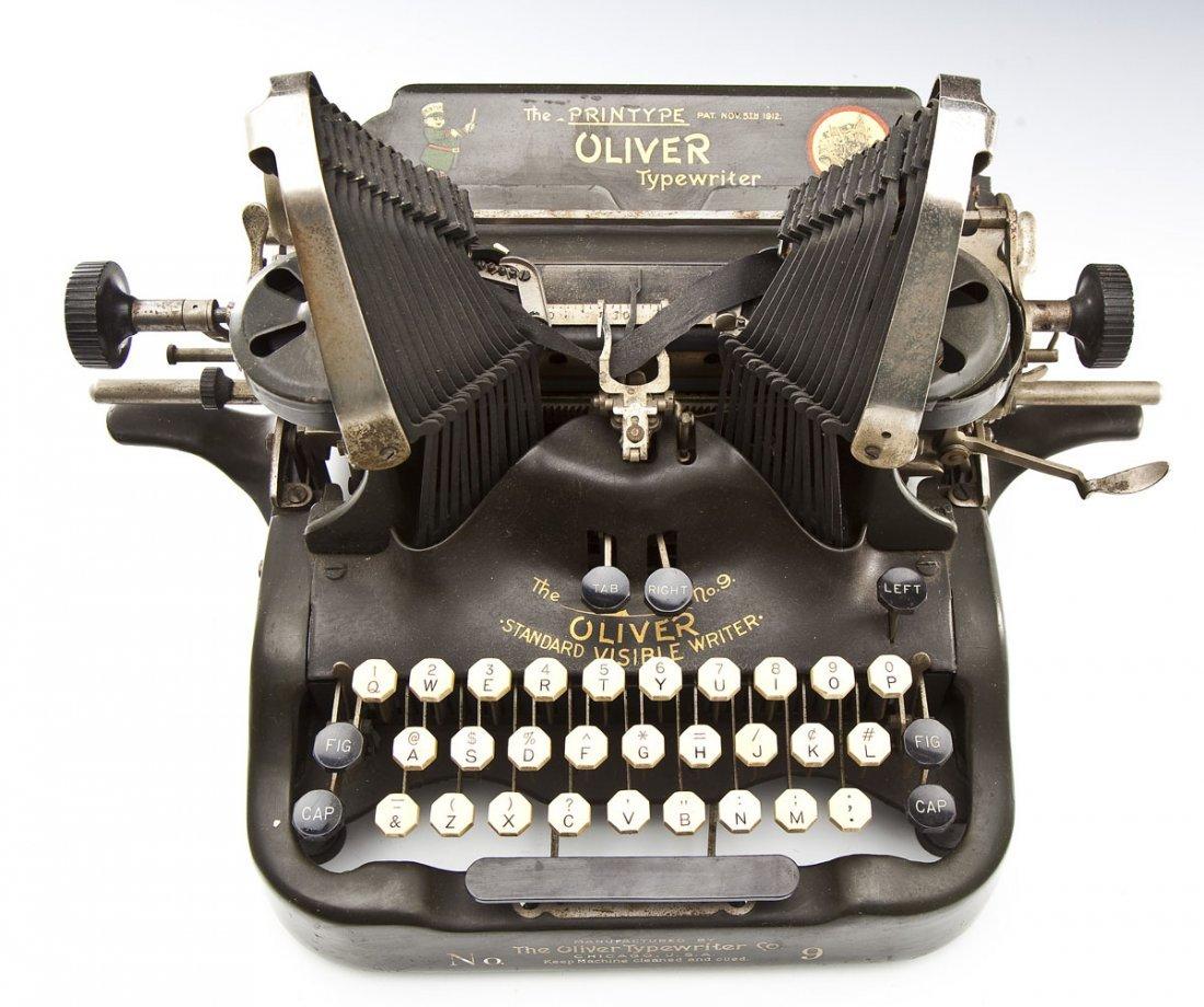 The Printype Oliver Typewriter Co. No. 9