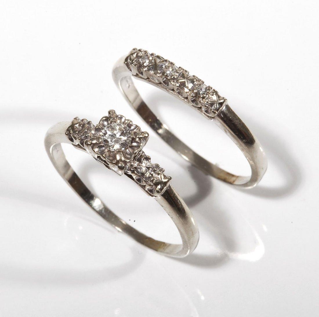 14K & Diamond Wedding Set