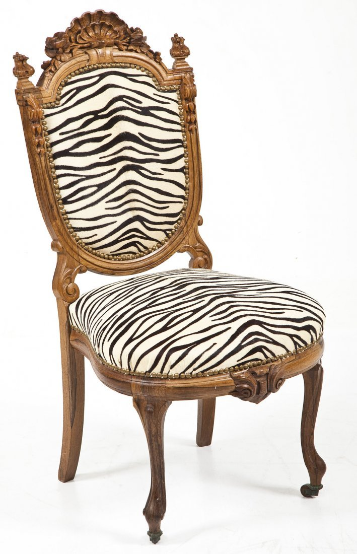 Victorian Revival Boudoir Chair
