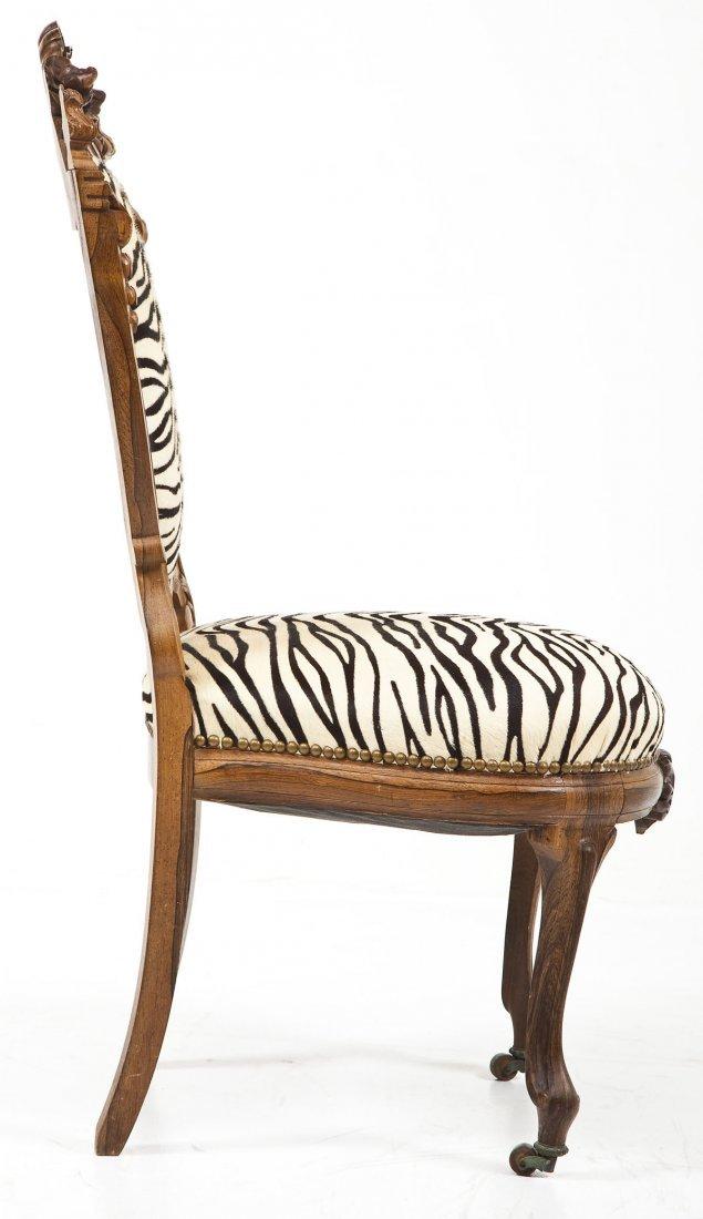 Victorian Revival Boudoir Chair - 3