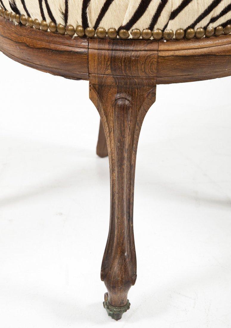 Victorian Revival Boudoir Chair - 5