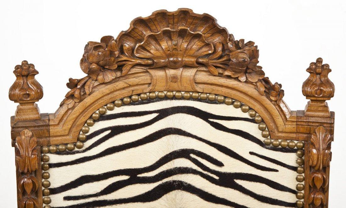 Victorian Revival Boudoir Chair - 6