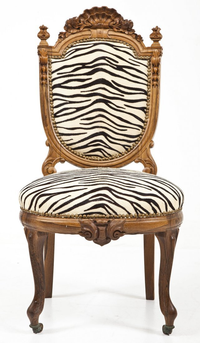 Victorian Revival Boudoir Chair - 9