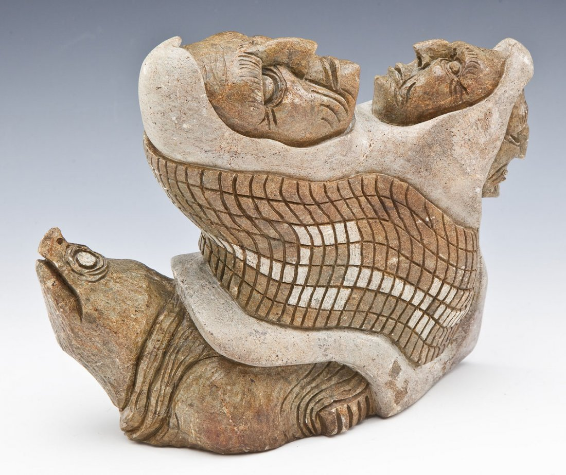 Iroquois Six Nations Stone Carving by John Elliott