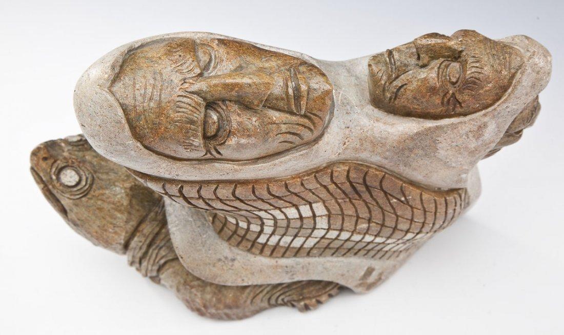 Iroquois Six Nations Stone Carving by John Elliott - 2