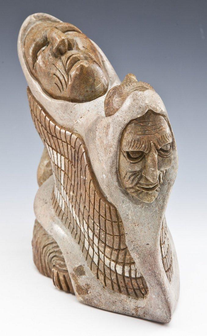 Iroquois Six Nations Stone Carving by John Elliott - 3