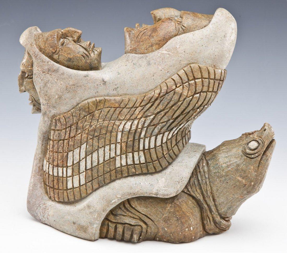 Iroquois Six Nations Stone Carving by John Elliott - 4
