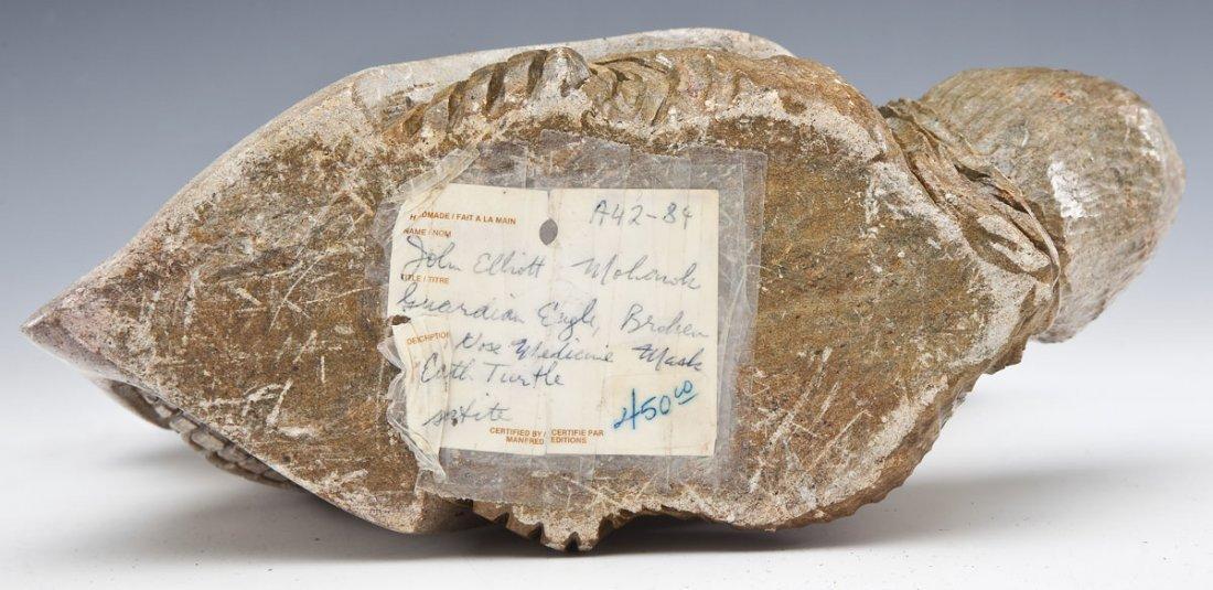 Iroquois Six Nations Stone Carving by John Elliott - 6