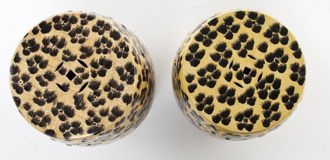 Pair of Leopard Print Garden Stools - 3