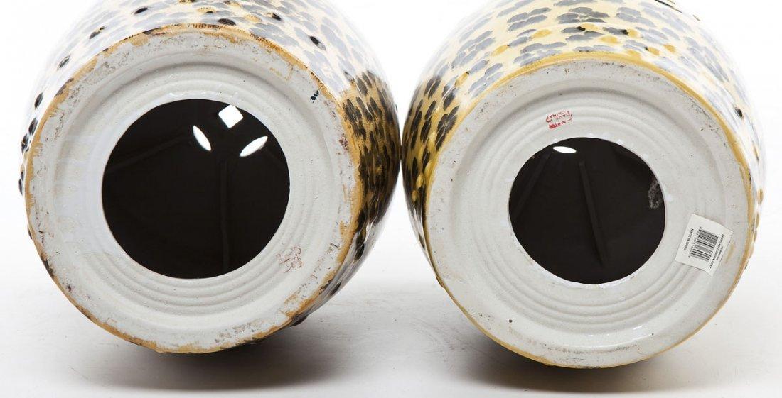 Pair of Leopard Print Garden Stools - 4