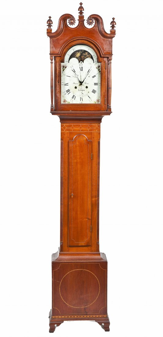 George Oves Lebanon 8 Day Tall Case Clock