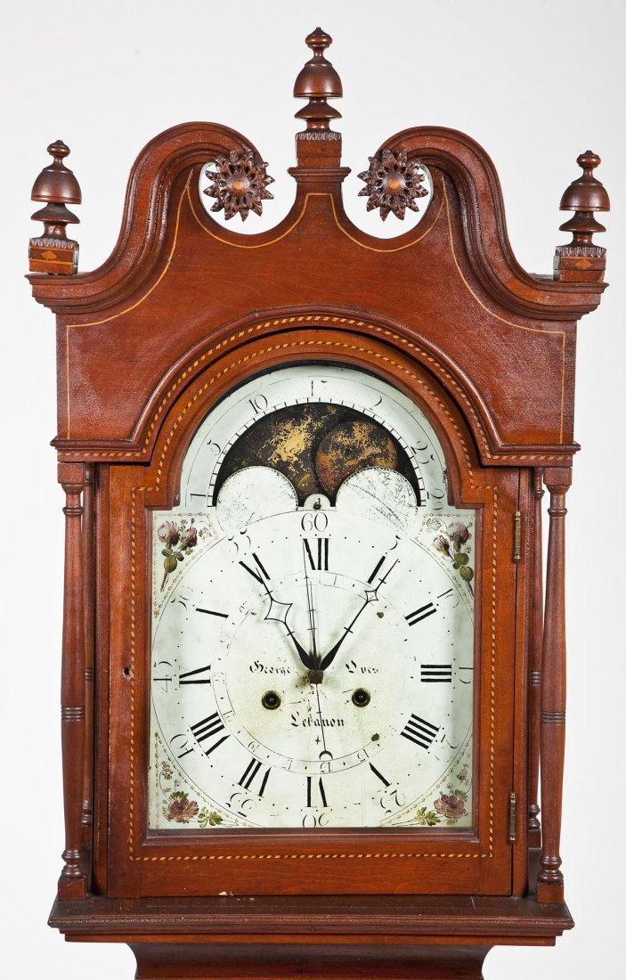 George Oves Lebanon 8 Day Tall Case Clock - 2