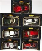 7 BBURAGO 1/18 Scale Model Cars in OB