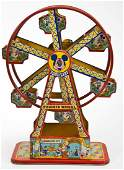 J. Chein Disneyland Tin Litho Ferris Wheel in OB