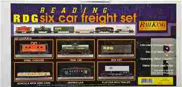 MTH Rail King RDG 6 Car Reading Freight Set