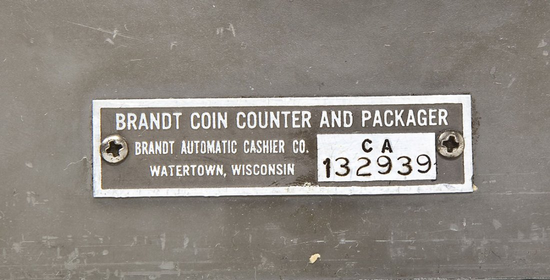 Brandt Coin Counter and Packager - 8