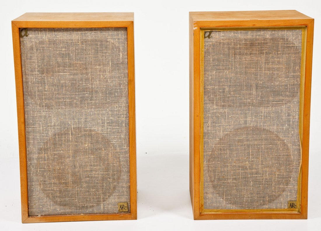 Pair of Mid-Century Acoustic Research 2ax Speakers