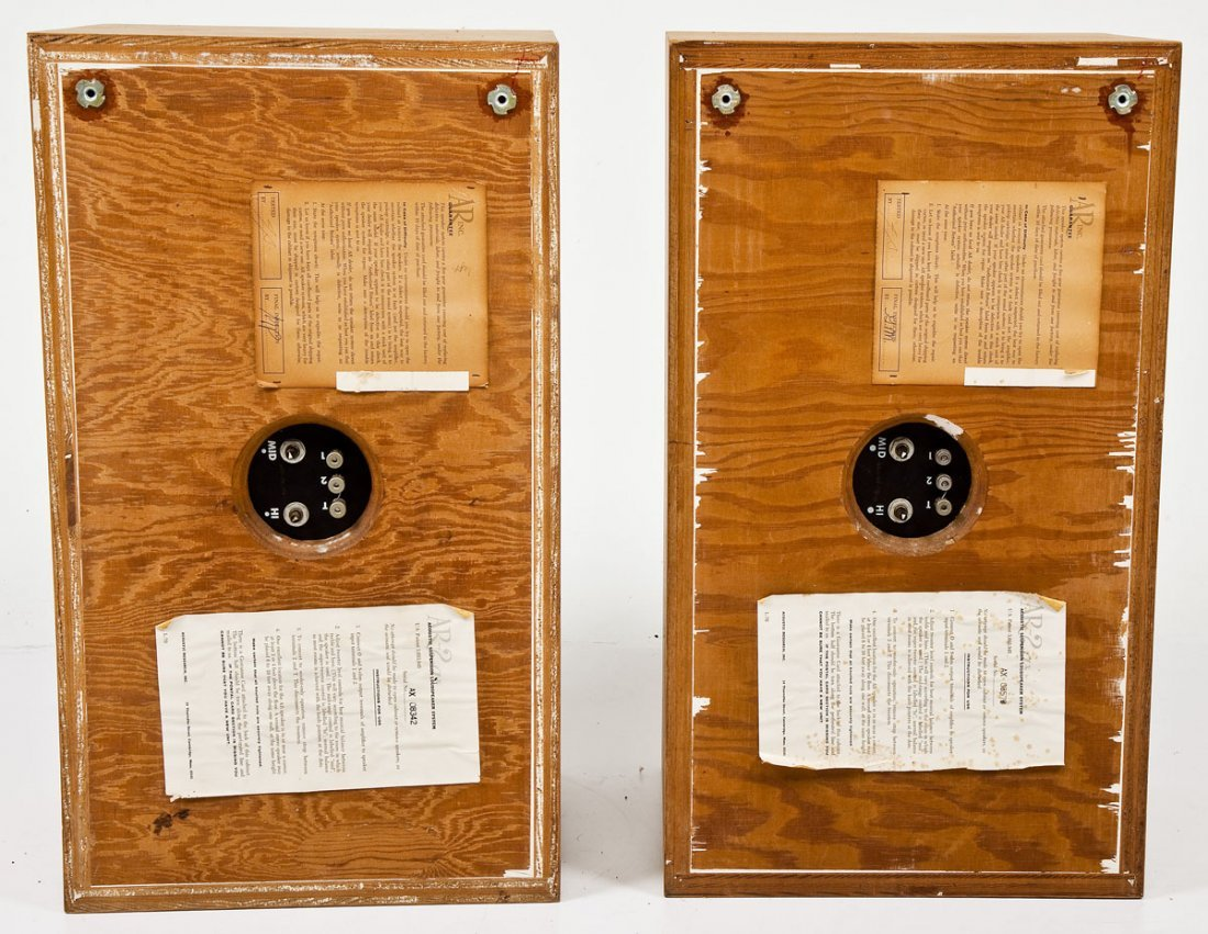 Pair of Mid-Century Acoustic Research 2ax Speakers - 5