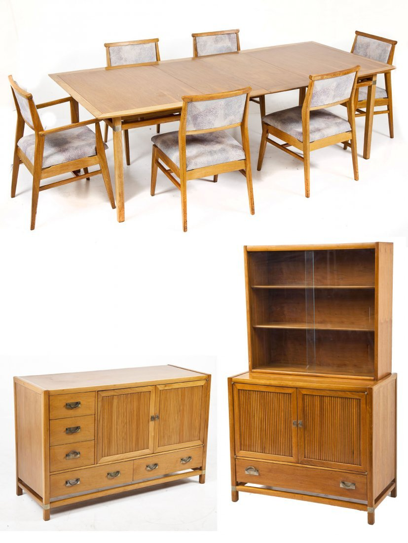 Hickory Tung-Si Mid-Century Dining Set