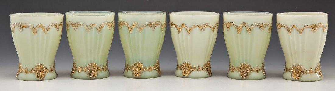 Northwood Custard Glass Drink Set - 5