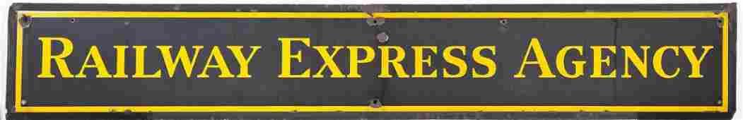 Railway Express Agency Tin Sign