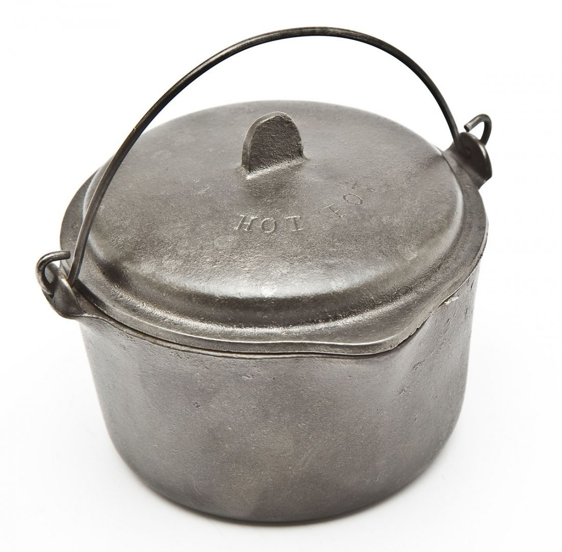 Wagner No. 1363 Flat Bottom Kettle/Hot Pot w/Cover