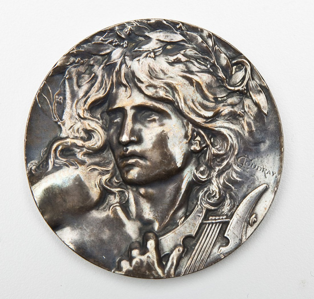 c5ef3d17bfa C. Loudray The Lute Player Silver Medal - Nov 14, 2015 | Cordier Auctions &  Appraisals in PA