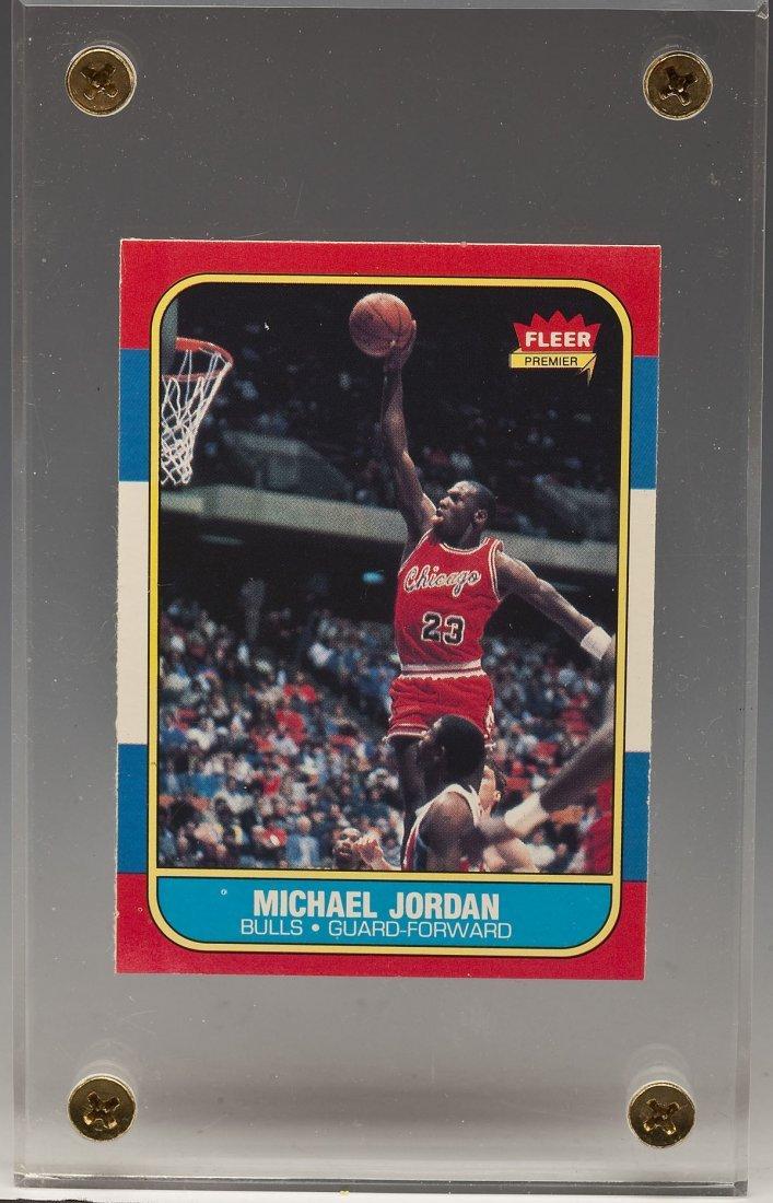 1986 Fleer Michael Jordan #57 Rookie Card