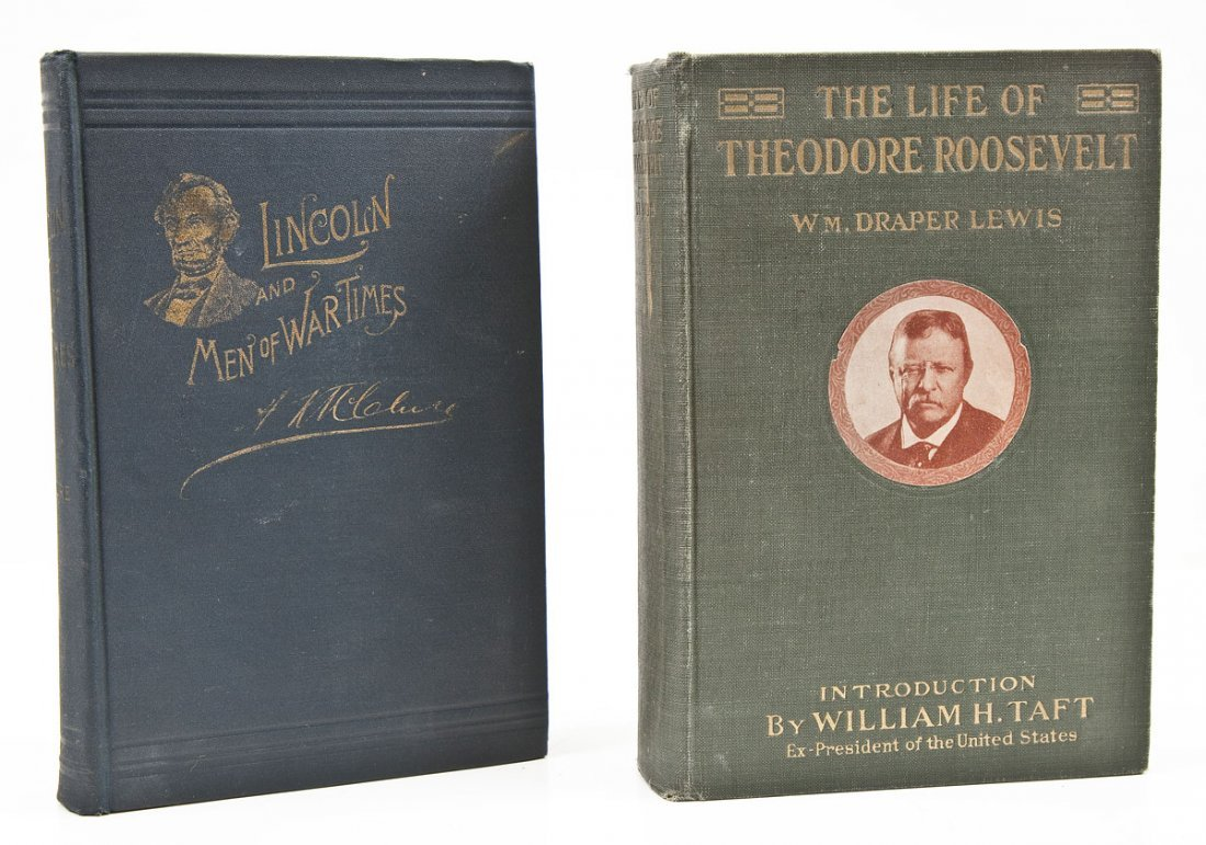 2 Lincoln & Theodore Roosevelt Books