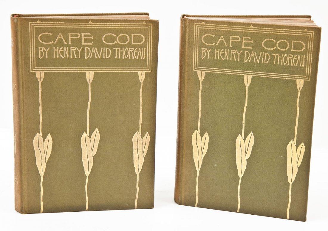 1896 Cape Cod by Thoreau 2 Vols