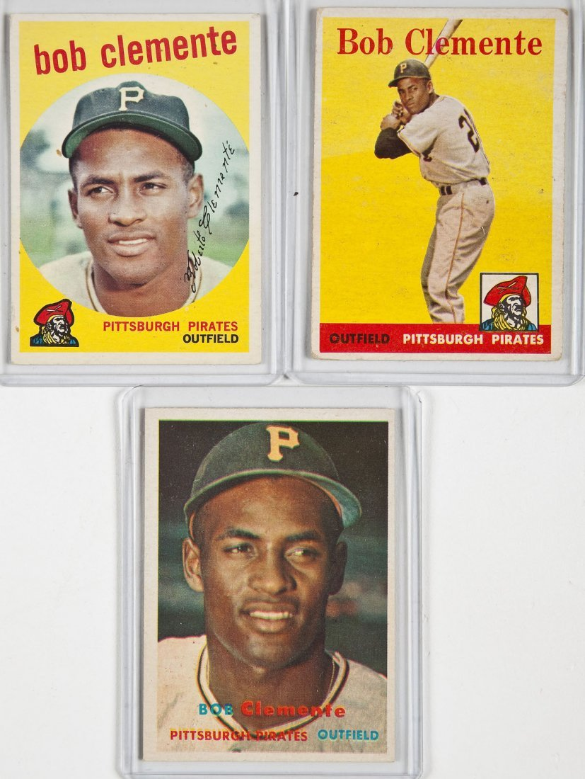 3 Circa 1950's Roberto Clemente Cards