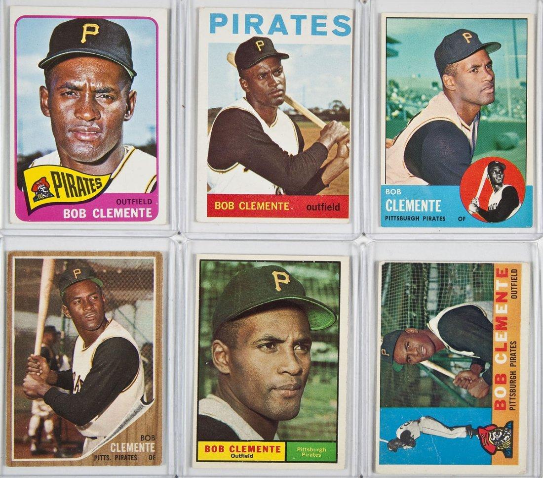 6 Circa 1960's Roberto Clemente Cards